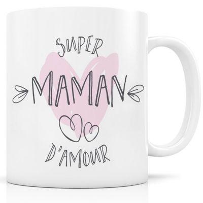 Mug céramique Super Maman d'amour  par Signature Label Tour