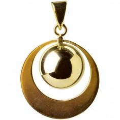 Bola grand anneau plaqué or
