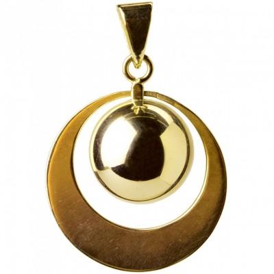 Bola grand anneau plaqué or  par Bola