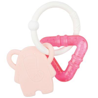 Anneau de dentition réfrigéré Éléphant rose  par Nattou