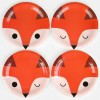 Lot de 8 assiettes en papier renard - My Little Day
