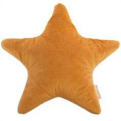 Coussin étoile Aristote velvet Farniente jaune (40 x 40 cm)