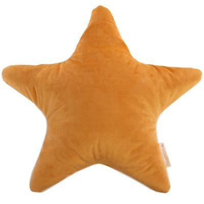 Coussin étoile Aristote velvet Farniente jaune (40 x 40 cm) Nobodinoz