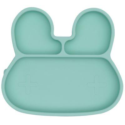 Assiette à compartiments lapin mint  par We Might Be Tiny