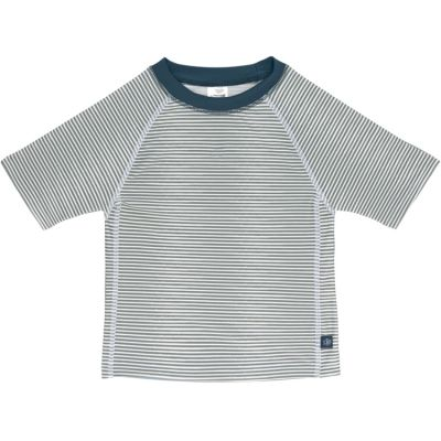 Tee-shirt anti-UV manches courtes rayé col marine (2 ans)  par Lässig