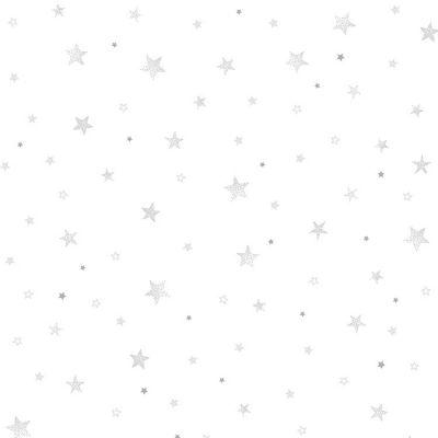 Papier peint intissé Stardust étoiles grises (10 m)  par Lilipinso