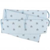 Tour de parc Star bleu ciel et gris (75 x 85 cm) - Baby's Only
