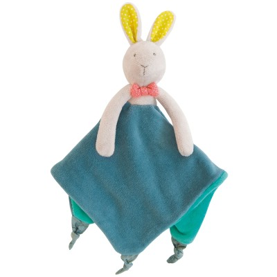Doudou attache tétine lapin Mademoiselle et Ribambelle Moulin Roty