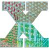 Lettre X en bois Paon - Djeco
