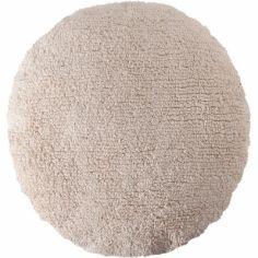 Coussin rond beige (45 cm)