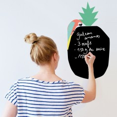 Sticker mural pense-bête en ardoise Coco
