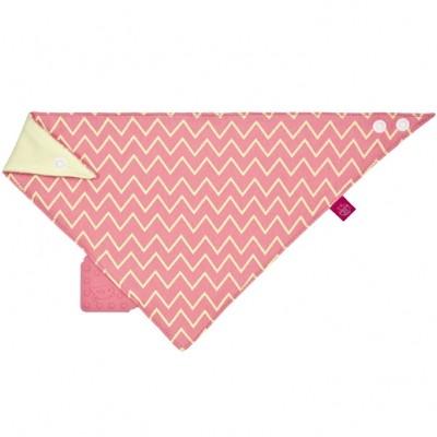 Bavoir bandana avec élément de dentition Zigzag rouge  par Lässig