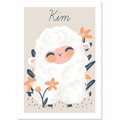 Affiche A3 les Animignons le mouton (personnalisable)