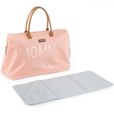 Sac à langer à anses Mommy bag rose clair  par Childhome
