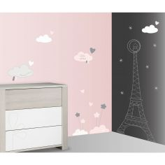 Stickers nuage et tour eiffel lilibelle 60 x 80 cm for Stickers tour eiffel chambre