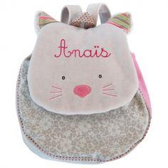 Sac à dos chat gris Les Pachats (personnalisable)
