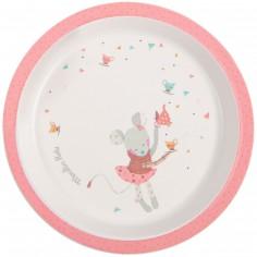 Assiette plate rose Les jolis trop beaux
