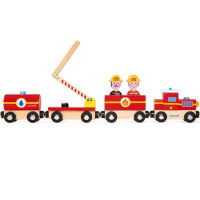 Train en bois Pompiers Story  par Janod