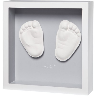 Cadre empreinte 3D My Little Steps gris  par Baby Art
