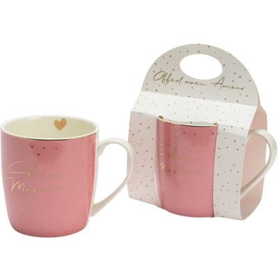 Mug rose Chic mamie  par Amadeus Les Petits