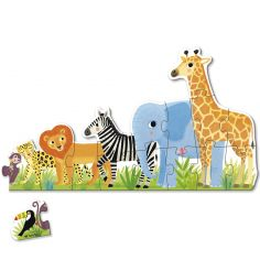 Puzzle Les animaux de la jungle XXL (16 pièces)