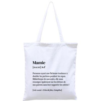 Sac à anses en coton bio Mamie  par Hindbag
