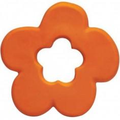 Anneau de dentition latex d'hévéa fleur orange