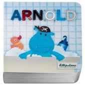 Mini livre Arnold l'hippopotame - Lilliputiens