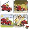 Set petits puzzles Le camion de Léon (4 puzzles) - Janod