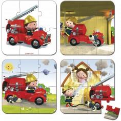 Set petits puzzles Le camion de Léon (4 puzzles)