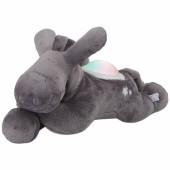 Peluche veilleuse âne Paco gris Poudre d'étoiles (25 cm)  - Noukie's