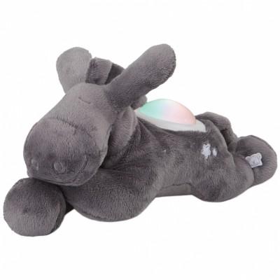Peluche veilleuse âne Paco gris Poudre d'étoiles (25 cm)  Noukie's