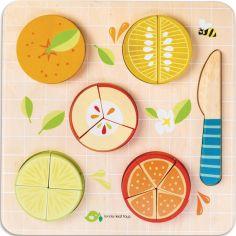 Puzzle à encastrement fractions d'agrumes (16 pièces)