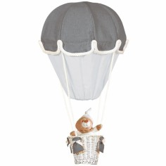 Lampe montgolfière gris et perle