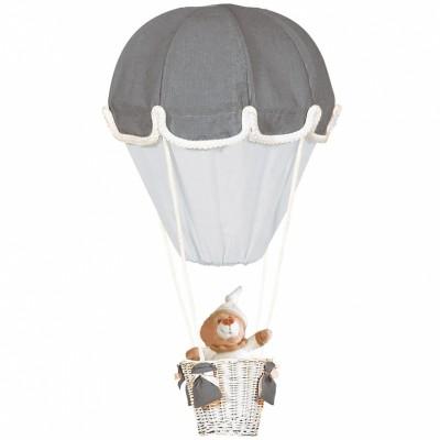 Lampe montgolfière gris et perle   par Domiva