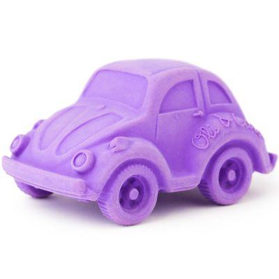 Petite voiture Coccinelle latex d'hévéa violette  par Oli & Carol