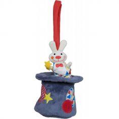 Peluche musicale à suspendre Ernesto le lapin Magic Circus (30 cm)