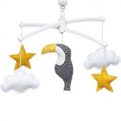 Mobile musical toucan jaune (mélodie au choix)