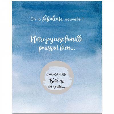 Lot de 5 cartes à gratter Annonce de grossesse Famille (8 x 10 cm)