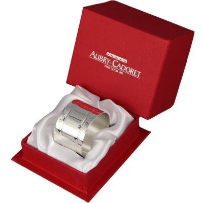 Rond de serviette Filets personnalisable (métal argenté)  par Aubry-Cadoret