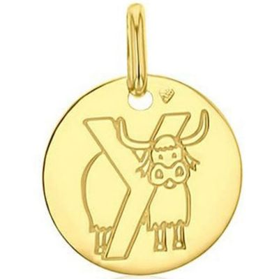 Médaille Y comme yack (or jaune 750°)