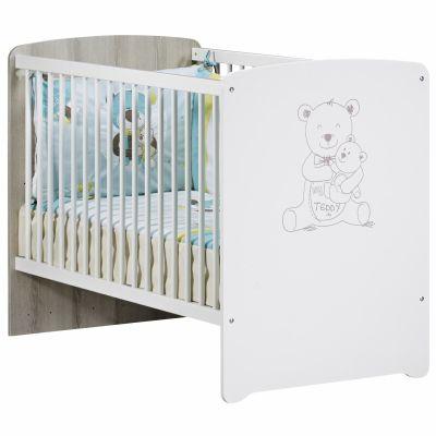 Lit bébé têtes panneaux Teddy (60 x 120 cm)  par Baby Price