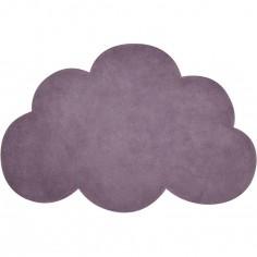Tapis coton nuage prune (64 x 100 cm)