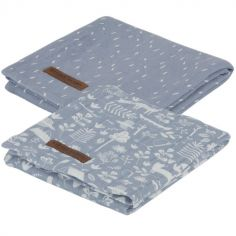Lot de 2 langes Adventure blue (70 x 70 cm)