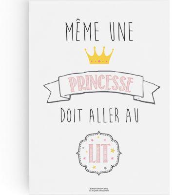 Affiche A3 Princesse  par La Poupette à paillettes