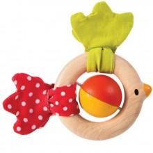 Hochet en bois oiseau  par Plan Toys