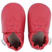 Chaussons en cuir Soft soles rouge étoile (15-21 mois) - Bobux