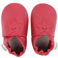 Chaussons en cuir Soft soles rouge étoile (15-21 mois)