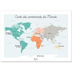 Affiche A4 Carte du monde