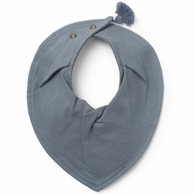 Bavoir bandana pompon Tender Blue  par Elodie Details